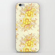 Larger Faded Flowers Tiled iPhone Skin