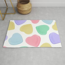 Candy Conversation Hearts Pattern Rug