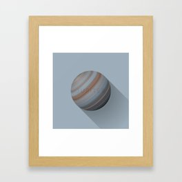 Flat Planet - #5 Jupiter Framed Art Print