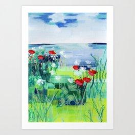 Buffalo Wildflowers - 3 Art Print
