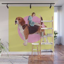Twiggy and the Pups   Beagle Wall Mural