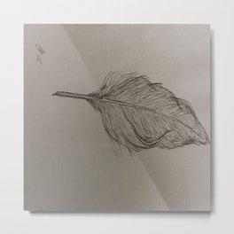 Goose Feather Metal Print