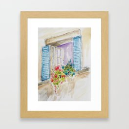 Old World Window Framed Art Print