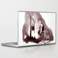 camp Laptop & iPad Skins featuring Camp Fire by Patricia Howitt