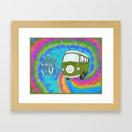 Camper Bus Not All Who Wander Are Lost Framed Art Print