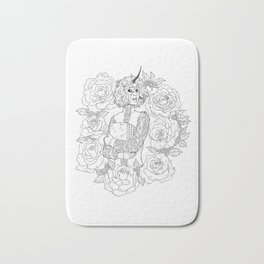 Thorns and Roses Bath Mat