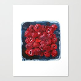 Watercolor Raspberries by Artume Canvas Print