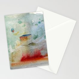waxing crescent.three Stationery Cards
