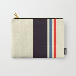 Classic Minimal Racing Car Retro Stripes - Furaribi Carry-All Pouch