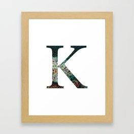 """Initial letter """"K"""" Framed Art Print"""