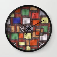 knit Wall Clocks featuring knit by colli1 3designs