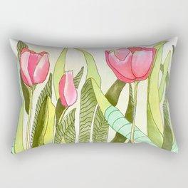 Dancing Tulips Rectangular Pillow