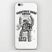bukowski iPhone & iPod Skins featuring bukowski robot by Triptih