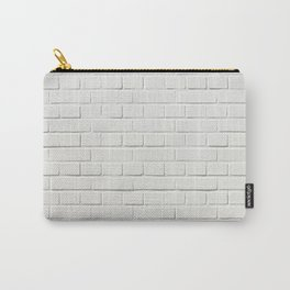 white brick wall tapestry Carry-All Pouch