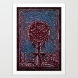 rosicrucian wriggle Art Print