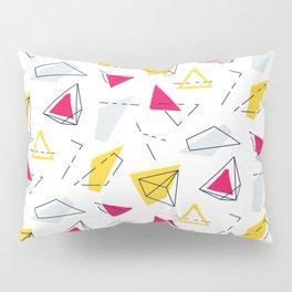 Red yellow geometric Pillow Sham
