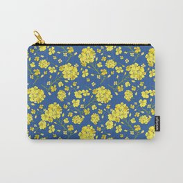 Floral Love of Mustard Carry-All Pouch