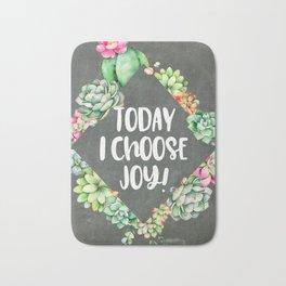 Today I Choose Joy Chalkboard Bath Mat
