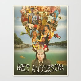 The Mind of Wes Anderson Canvas Print