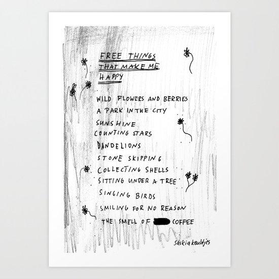 the little things Art Print