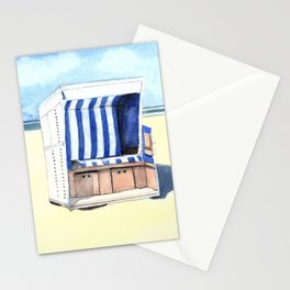 Sylt Watercolor Beach Painting Stationery Cards