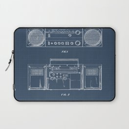Boombox blueprints Laptop Sleeve