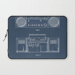 Boombox blueprints Laptop Sleeve