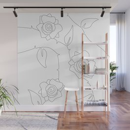 Rose Bush Wall Mural