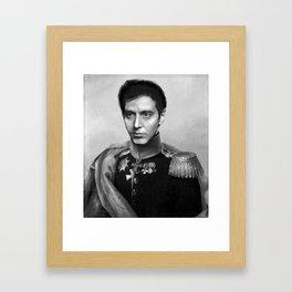Al Pacino Scar Face General Portrait Painting   Fan Art Framed Art Print