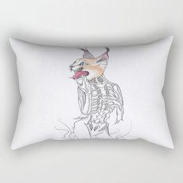 Half Man Half Caracal Rectangular Pillow