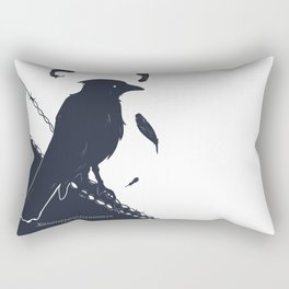 Raven on a Wire Rectangular Pillow