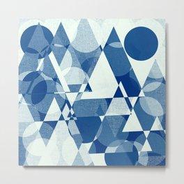 Geometric - Deko- blue Metal Print