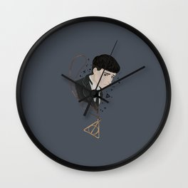 Credence Barebone + Deathly Hallows necklace Wall Clock