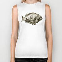 fish Biker Tanks featuring fish by Кaterina Кalinich