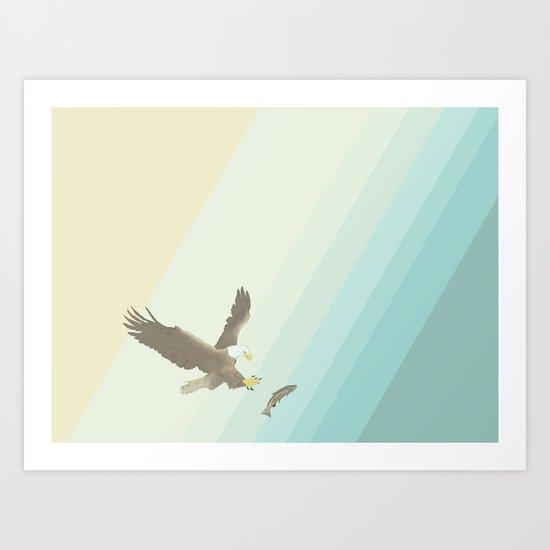 Eagle & Fish Art Print