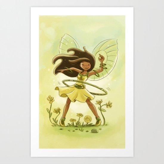 Goblins Drool, Fairies Rule - Hula Hoop  Art Print