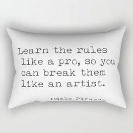 Pablo Picasso quote 88. Rectangular Pillow