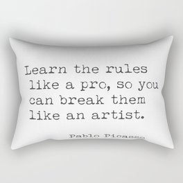 Pablo Picasso quote 88. Rectangular Pillow