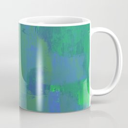A Different View Of Earth - Abstract, textured, globe painting Coffee Mug
