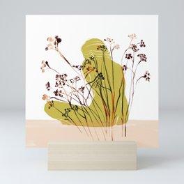 Woman with Tansy Mini Art Print
