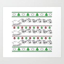 Biker Christmas Art Print