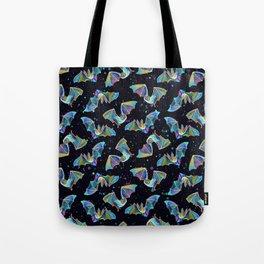 Pastel Party Bat Pattern Tote Bag