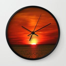 Sunset at Race Point  Wall Clock