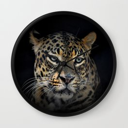 Portrait of a Jaguar Wall Clock