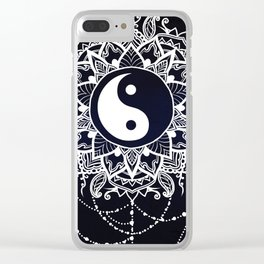 Yin & Yang Decorative Mandala Clear iPhone Case