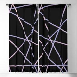 Rose Quartz & Serenity on Black Blackout Curtain