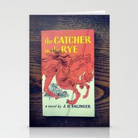catcher in the rye Stationery Cards featuring The Catcher In The Rye by Anano