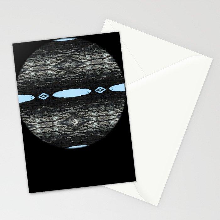 Oak Tree Blue Portal Nature Pattern by Debra Cortese Designs Stationery Cards