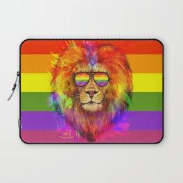 Rainbow Lion Pride Laptop Sleeve