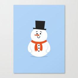 Cute Snowman Canvas Print